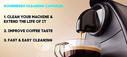 Gourmesso Cleaning Capsules for Nespresso Machines Cleaning Kit - 10 Cleaning Pods for Nespresso Original Machines Cleaner for Better Tasting Coffee
