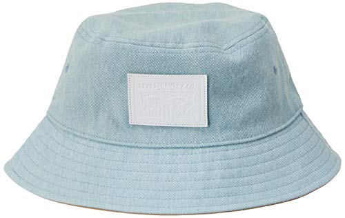 Levis Footwear and Accessories Herren Bucket Hat - Denim Reversible Fischerhut, Blau (Light Blue 13), Large