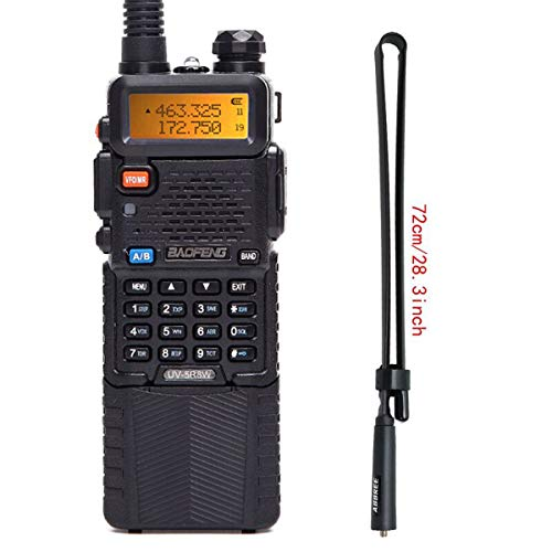 BaoFeng UV-5R High Power Tri-Power Portable Two-Way Radio 3800mAh Battery with 28.3inch Abbree Tactical Antenna. Buy it now for 50.99
