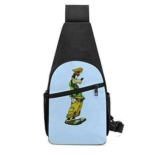 Trista Bauer Dippy Dawg Sling Bag/Crossbody Mochila de Pecho/Bolsos de Hombro para Hombres Mujeres Viajes Senderismo Ciclismo Mochila Informal-JN