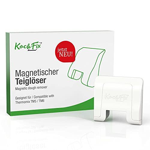 KochFix Teiglöser Teigblume für Thermomix Mix-Topf | Messer-Drehhilfe hält magnetisch, Aufgeräumt & Griffbereit am Gehäuse des TM5 TM6 | Zubehör Made in Germany