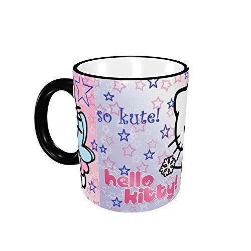 330ML Taza de cerámica Tazas de café Taza de té de Hello Kitty para la oficina y el hogar, regalo divertido