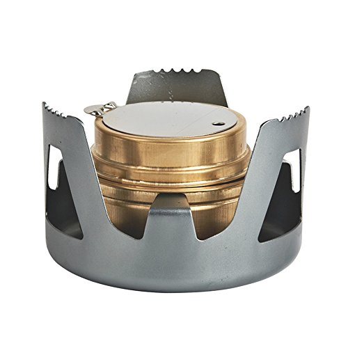 Famgee Outdoor Mini Portable Alcohol Stove Burner for Backpacking Hiking Camping Survival - Gray