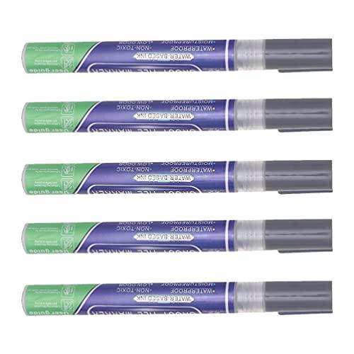 Cabilock 5 Piezas de Pluma de Lechada Azulejo Gris Claro Azulejo Marcador Azulejo de Lechada Y Sellador Bolígrafo Gris Claro Azulejo de Reparación de Renovación