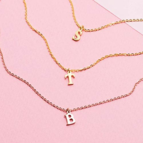 Graceful Rings Gix Minimalist Personalized Initial Neckalces Charms Pendants For Moms Gold Rose Gold Plating