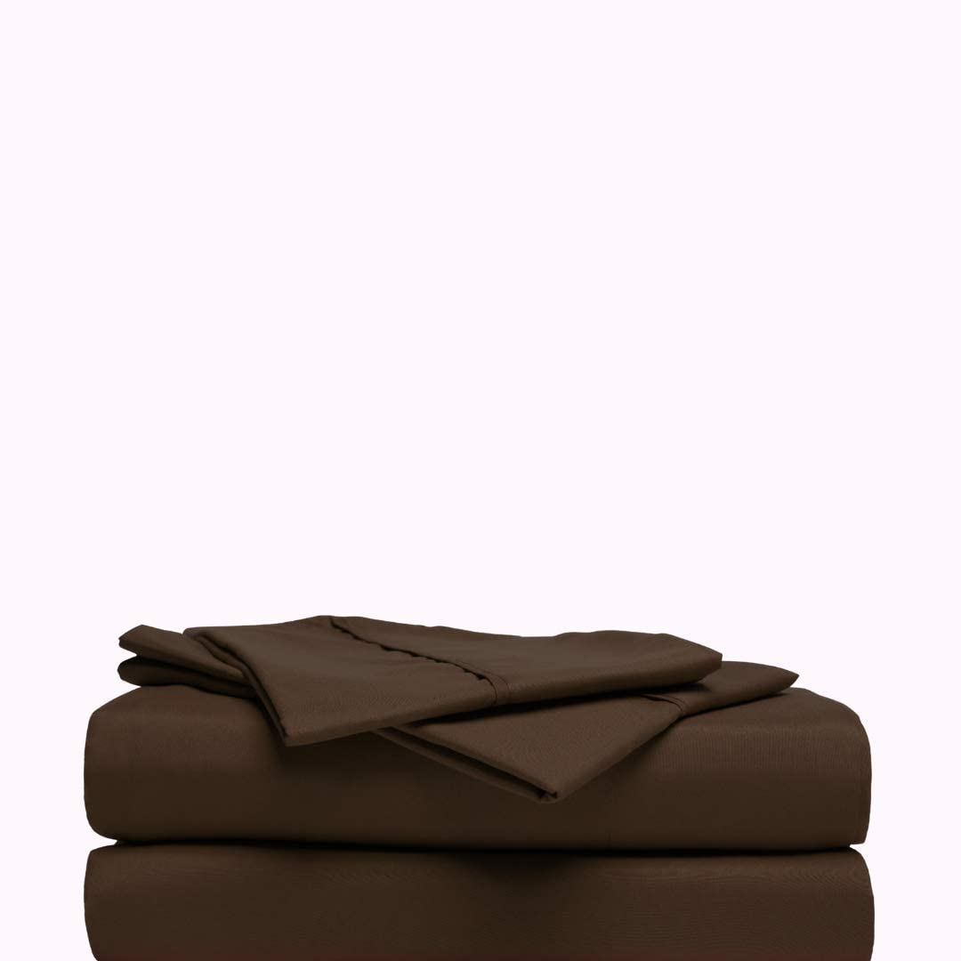 Pampered By Porsha Luxurious Sheet Brown Set Clearance SALE Limited time Standard Pillowca Bargain sale