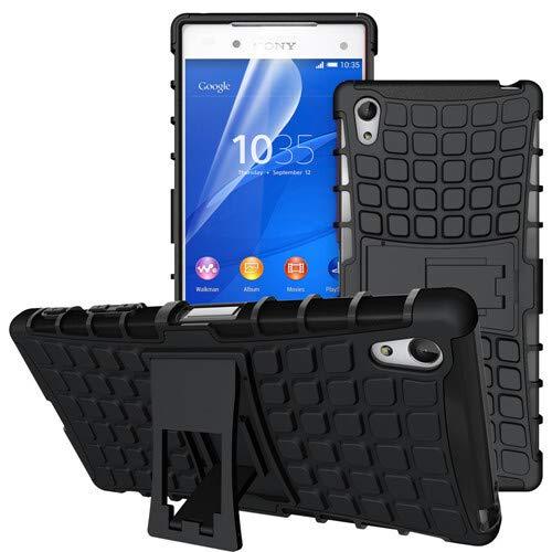 betterfon | Outdoor Handy Tasche Hybrid Case Schutz Hülle Panzer TPU Silikon Hard Cover Bumper für Sony Xperia Z5 Premium Schwarz