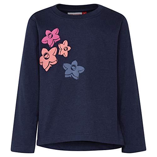 Lego Wear Duplo Girl Thelma 325-Langarmshirt T-Shirt À Manches Longues, Bleu (Dark Navy 590), 86 Bébé Fille