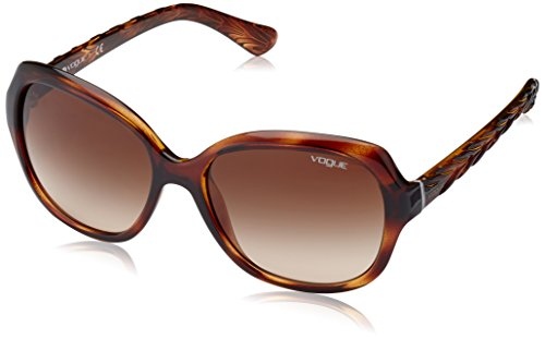 Vogue 0Vo2871S Gafas de sol, Striped Dark Havana, 56 para Mujer