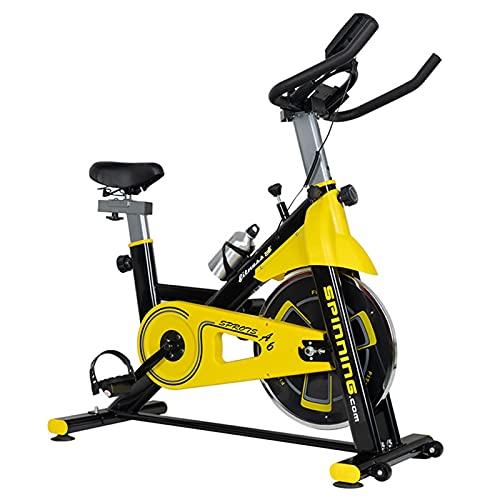 Spinning Bike Bicicleta Estática para Gimnasio En Casa, Bicicleta Estática De Interior Apta para Ejercicio Aeróbico, Bicicleta De Spinning con Soporte para Botella Y Soporte para Ipap