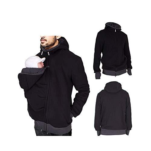 QQA Känguru Hoodies Jacke Mantel zum Papa und Babytrage Mutterschaft Winter Sweatshirt Outwear,M