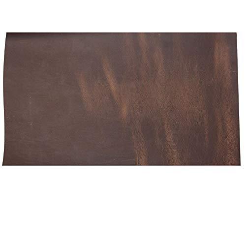 Passion Junetree vacchetta pelle bovina marrone scuro in vera pelle, spessore di circa 2.0mm in pelle bovina vintage (circa 50x 22cm)
