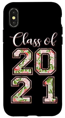 iPhone X/XS High School Class Of 2021 Floral Tee Senior Graduate Case