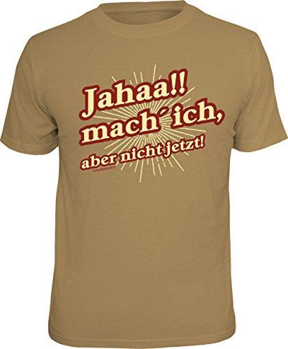 T-Shirt für den Teenager (oder Ehemann): Jahaa!! mach ich - Aber Nicht jetzt! Größe XL