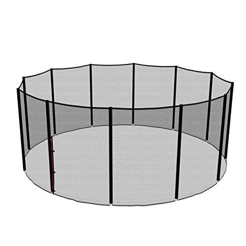Ampel 24, Filet de sécurité de Rechange pour Trampoline 460 cm et 12 Barres | piquets Non Inclus | résistant aux UV | Filet extèrieur