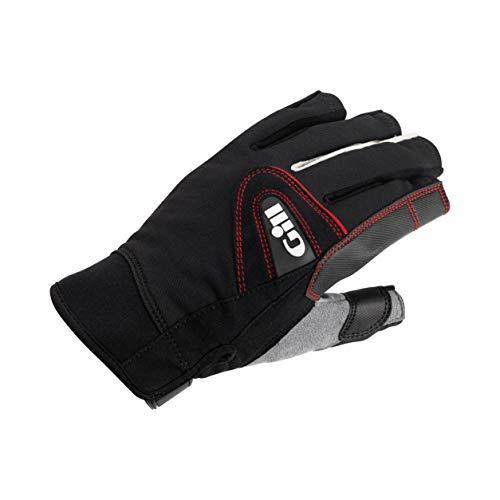 Gill Championship rękawiczki żeglarskie z krótkimi palcami, czarne, Easy Stretch ochrona przed słońcem UV i właściwości SPF
