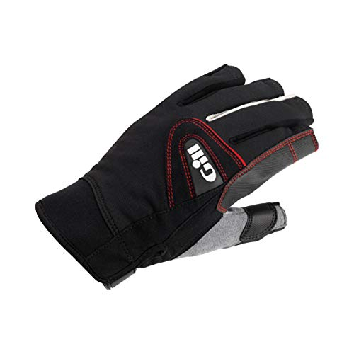 2017 Gill Championship Short Finger Sailing Gloves Black 7242 Size - - Medium