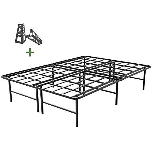 45MinST 16 Inch Platform Bed Frame/2 Brackets Included/Mattress...