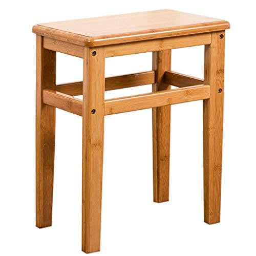 L-DZJUYILXY kruk van massief hout eetkamerstoel keuken voorjaarsstuk vierkante kruk lengte 33 breedte 23 hoogte 42 geschikt voor keuken, slaapkamer, woonkamer of badkamer