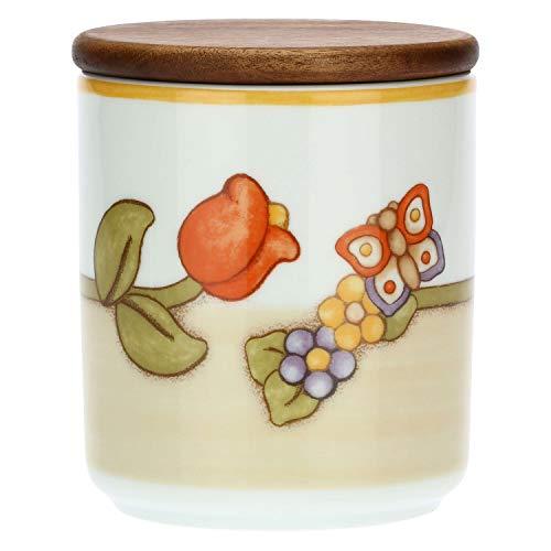 THUN - Barattolo in Porcellana Country con Tulipano e Farfalla