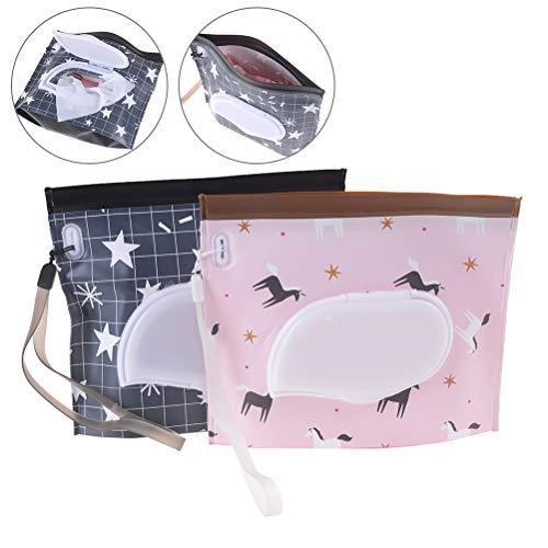 Niu Mang wiederverwendbare Tasche für feuchte Reinigungstücher, umweltfreundlich, für Feuchttücher, 4 Stück