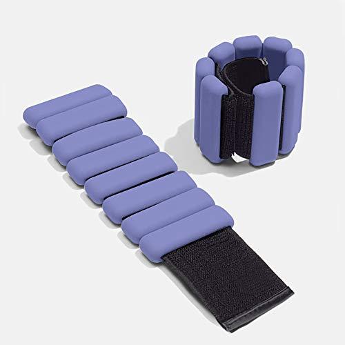 MKIU Knöchel & Handgelenk Gewicht Set, Wearable Anpassen Gewicht Armband Arm-Armband Für Fitness Walking Laufe Yoga Jogging Pilates, 2pcs,Lila