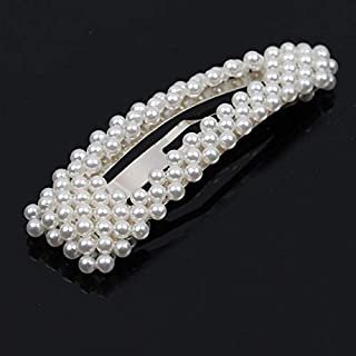 YJXUSHYQ Simulation Pearl Barrette Set Hair Accessories for Women Fashion Wedding Jewelry Gold Silver Bead Hairpins Clip (...