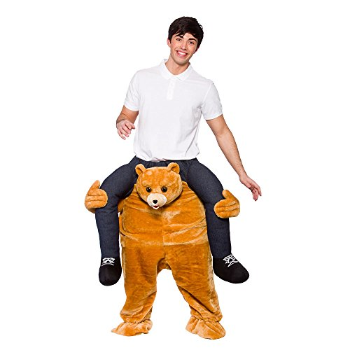 CUTE TEDDY BEAR CARRY ME MASCOT FANCY DRESS COSTUME