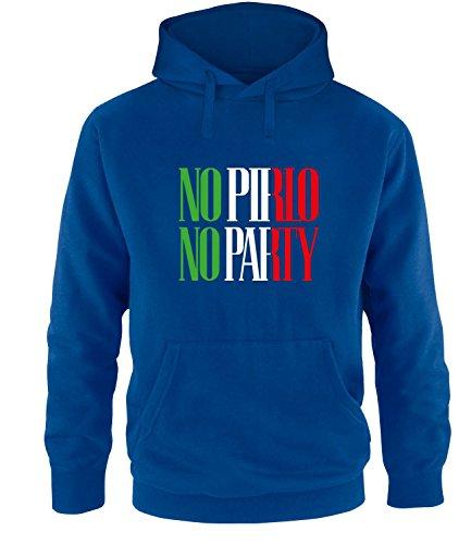 Luckja EM 2016 Trikot Italien Fanshirt No Pirlo No Party EM03 Herren Hoodie