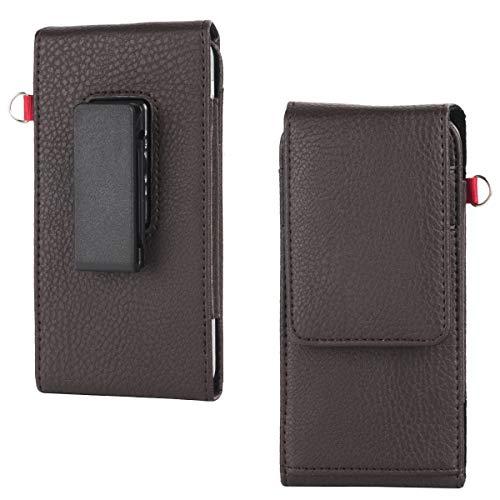 Shidan PU Vertical Riñonera Funda del Teléfono Celular con Clip Giratorio de 360 Grados y Ranuras para Tarjetas para Samsung Mega 6.3/GT-i9200/i9208/9152/9158/P709 (Se Adapta con el Estuche Delgado)