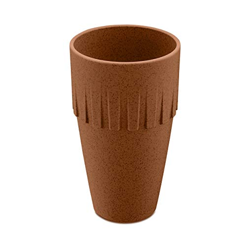Koziol Becher Latte Connect, Kaffeebecher, Tasse, Kaffeetasse, Thermoplastischer Kunststoff, Organic Rusty Steel, 400 ml, 4081674