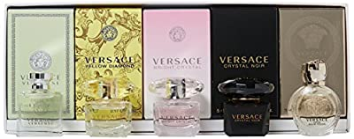 Versace Miniatures Variety Collection 5 Piece Mini Set for Women