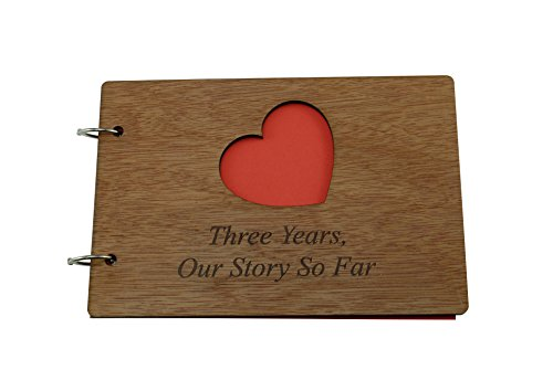3 años nuestra historia hasta el momento - álbum de recortes, álbum de fotos o cuaderno idea para 3er aniversario
