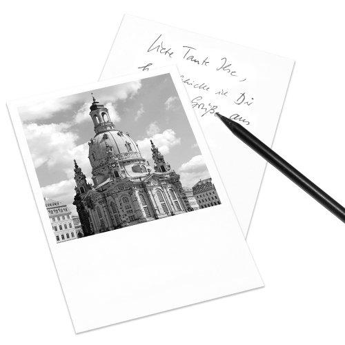 COGNOSCO Postkarte Dresden im Polaroid-Look - Motiv: Frauenkirche