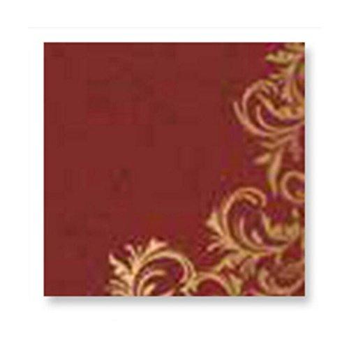 MXJ61 Serviettes à manger Coloré Impression De Mariage Papier De Toilette Petit Sac Papier Serviette 33 * 33cm 20 Feuilles / 1 Packs ( Couleur : Rouge )