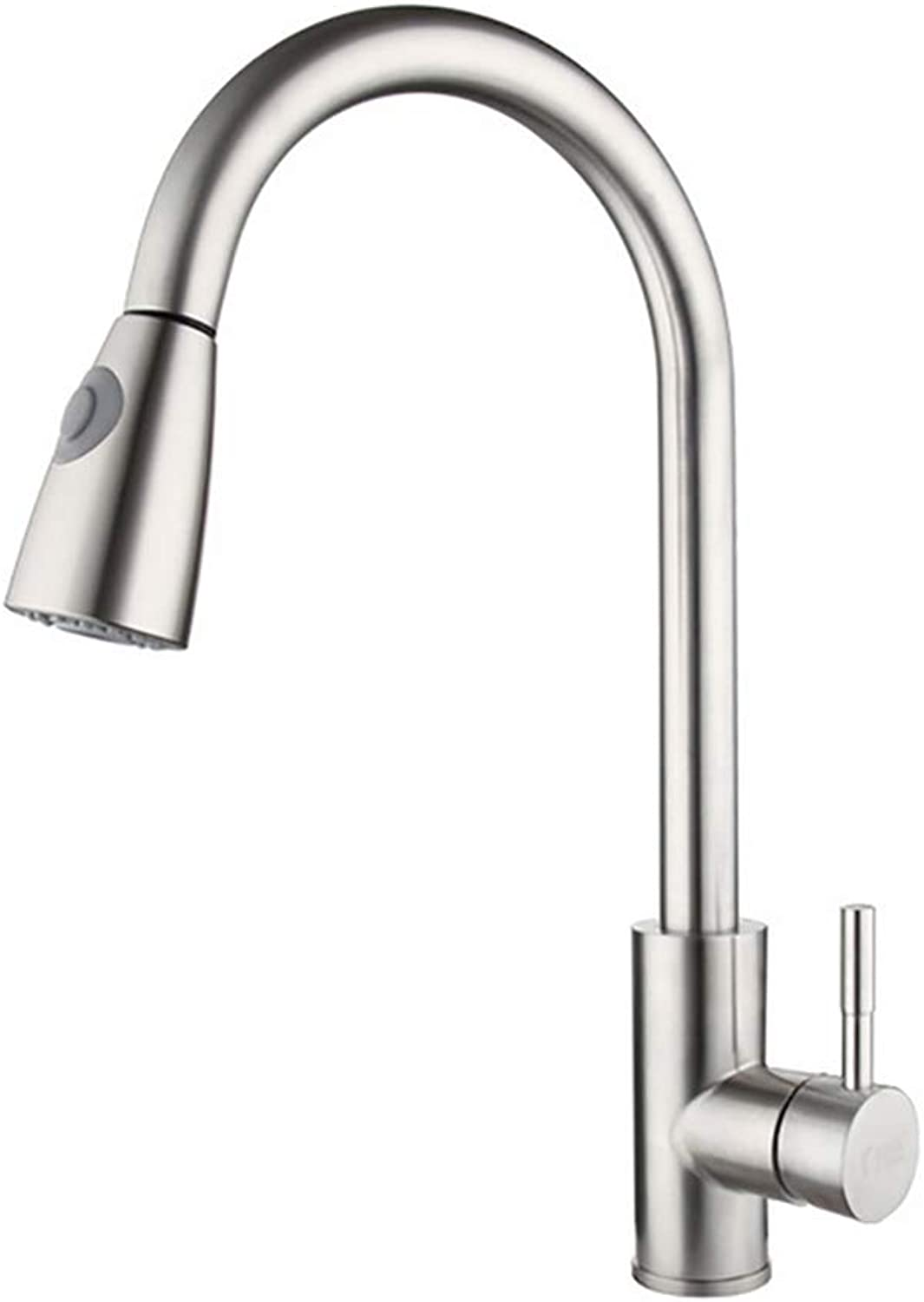 Austinstore Kitchen Faucet Single Handle High Arch Pull Out Kitchen Sink Faucets Mixer Tap