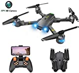 Drone with Camera for Adults - 120° Wide Angle RC Quadcopter for Beginner, WiFi FPV Live Video, Altitude Hold, Headless Mode, Stable Shot, Voice Control, Trajectory Flight, One Key Take Off, VR Game