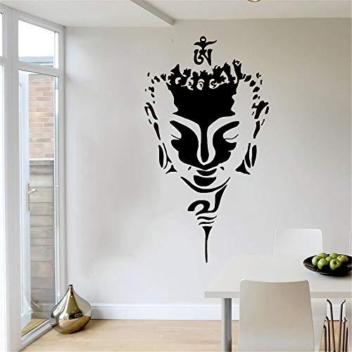 Buddha Wandtattoo Aufkleber Gesicht Minimalistischer Buddhismus Zen Yoga Wandbild Home Room Decoration Wandaufkleber Tapete A1 57x110cm