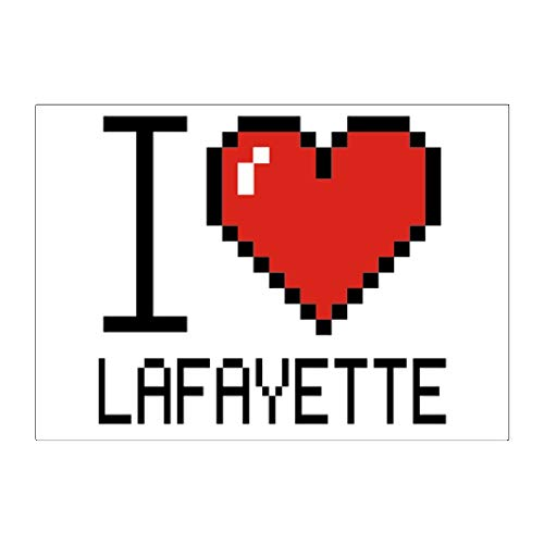 Teeburon I Love Lafayette Pixelated Sticker Pack x4 6'x4'