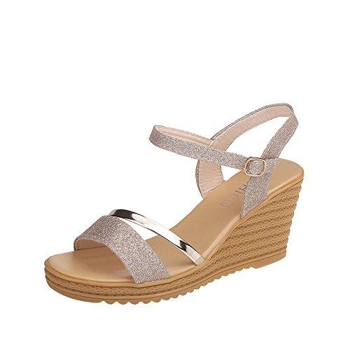 Chaussures Femme Talon Hiver,GongzhuMM Ete Sandales à la Mode pour Femmes, Talons Hauts, Bloc, Chaussures de soirée à Bout Ouvert