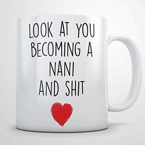 Taza de café, New Nani, Future Nani, Nani to Be, Nani Anuncio de Embarazo Taza de té de café de cerámica Divertida, Regalo para Amigo, Familia, Amante, colega, 11 oz