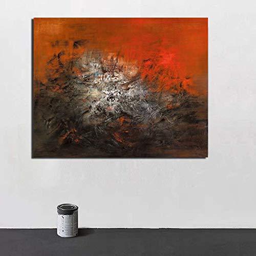 KWzEQ Berühmte Leinwandmalerei des berühmten Künstlers Retroplakat druckt Plakatwandmalerei dekorative Malerei,Rahmenlose Malerei,60x75cm