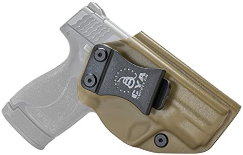 CYA Supply Co. Base Inside Waistband Holster (Flat Dark Earth) Concealed Carry IWB Veteran Owned Company Fits Smith & Wesson M&P Shield M2.0 & M1.0