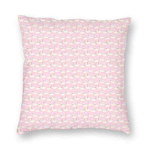 Fundas de almohada repetitivas de pájaro acuático con una corona decorativa para decoración del hogar, sofá, almohada decorativa de 55,88 x 55,88 cm