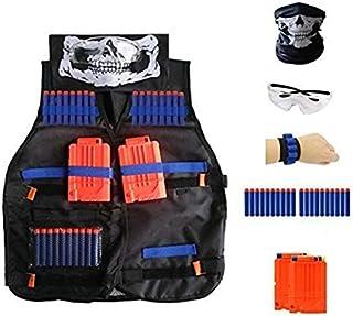 comprar comparacion Locisne Chaleco táctico para niños Traje de chaqueta para serie de élite Nerf Toy Gun N-Strike(20 piezas de espuma Dardos+...