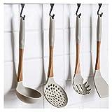 LCM 6pcs / Set del Nuevo silicón + Madera Cocinar Juegos de Herramientas Utensilios de Cocina Juegos de Utensilios Sopa Cuchara Espátula colador (Color : Soup Spoon)