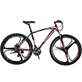 Eurobike Mountain Bicycles 3 Spoke Wheel 27.5 inch Wheel X1 (red)