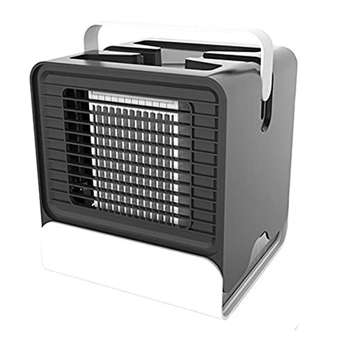 XHMJ Mini acondicionador de Aire, Absmaterial, Mango para facilitar el Transporte, Suministro de energía USB de bajo Ruido, Adecuado para Dormitorio/Oficina, etc, 6x6x Black