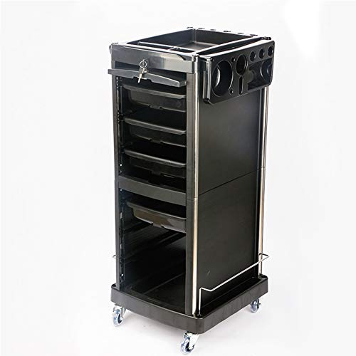 Beauty Storage Trolley Carros De Mantenimiento Productos de peluquería Carro de Herramientas de una Sola Puerta con Cerradura Peluquero Carrito de peluquería Permanente Pelo teñido Equipo Carrito