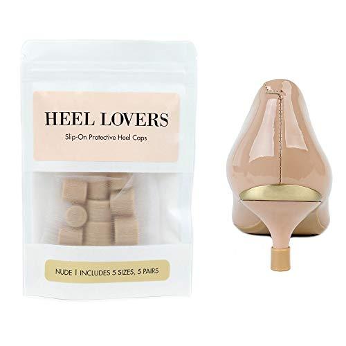 Heel Lovers Protective Heel Caps by FootFitter - High Heel Tip Covers for Women! (Nude)